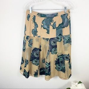 Timo Weiland Floral Tan Green Skirt